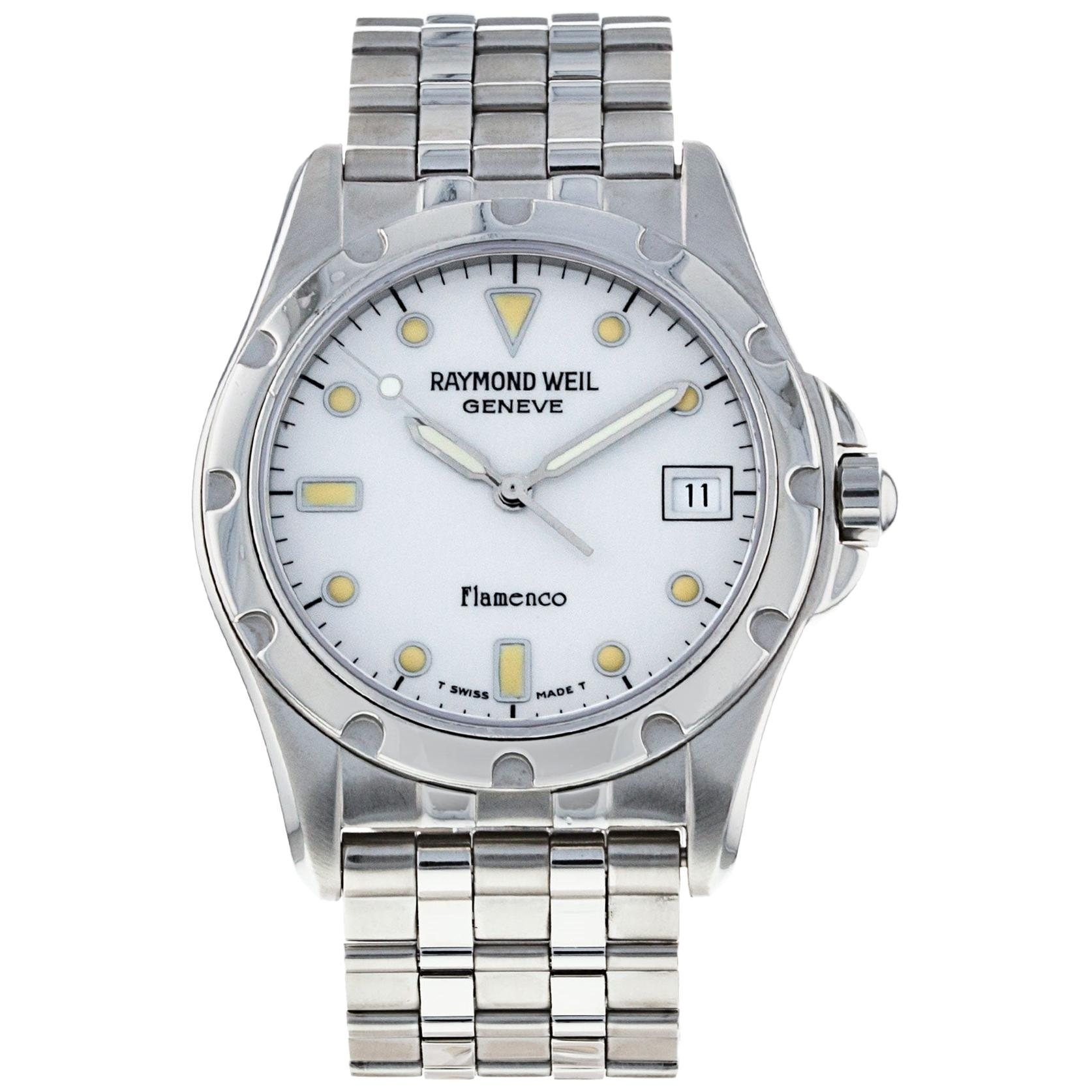 Raymond Weil Flamenco Stainless Steel Watch with Date & Box