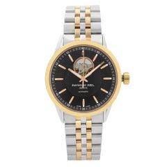 Raymond Weil Freelancer Two-Tone Black Dial Automatic Mens Watch 2710-SP5-20021