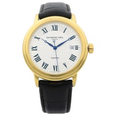 Raymond Weil Maestro Gold PVD Steel Silver Dial Men's Watch 2837-PC-00659