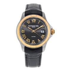 Raymond Weil Parsifal 18k Rose Gold Steel Black Dial Men's Watch 2970-SC5-00208