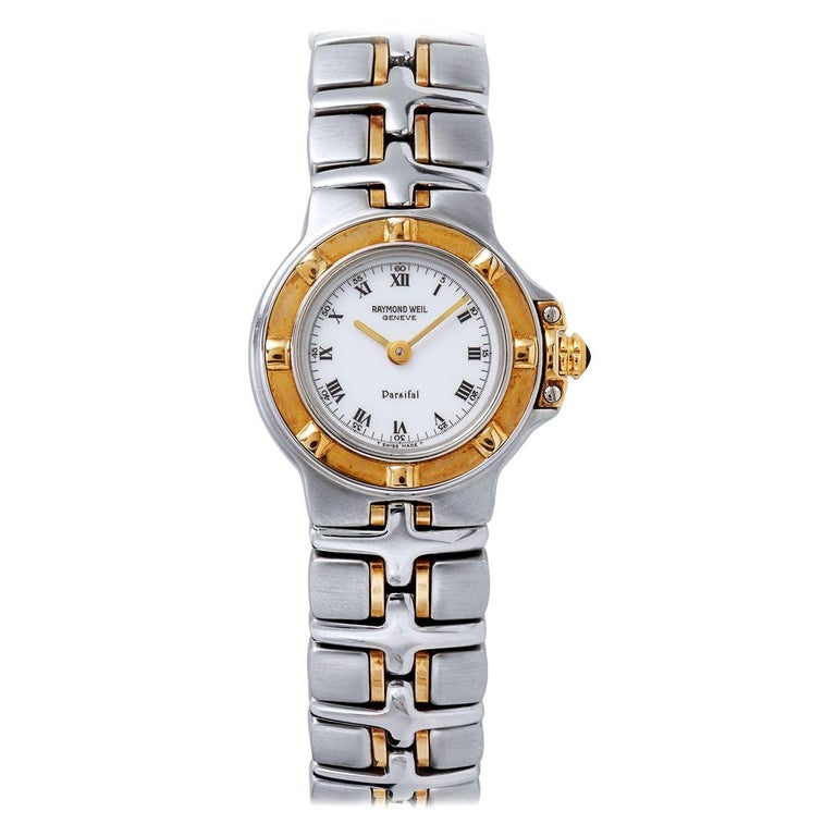 Raymond Weil Parsifal Stainless Steel and Yellow Gold Watch For Sale
