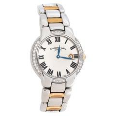 Raymond Weil Silver Two-Tone Stainless Steel Jasmine Women's Wristwatch 29MM