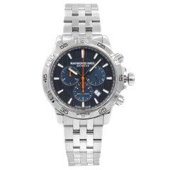 Raymond Weil Tango 300 Blue Striped Dial Steel Quartz Men's Watch 8560-ST2-50001