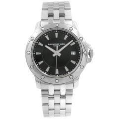 Raymond Weil Tango Black Dial Stainless Steel Quartz Men's Watch 5599-ST-20001