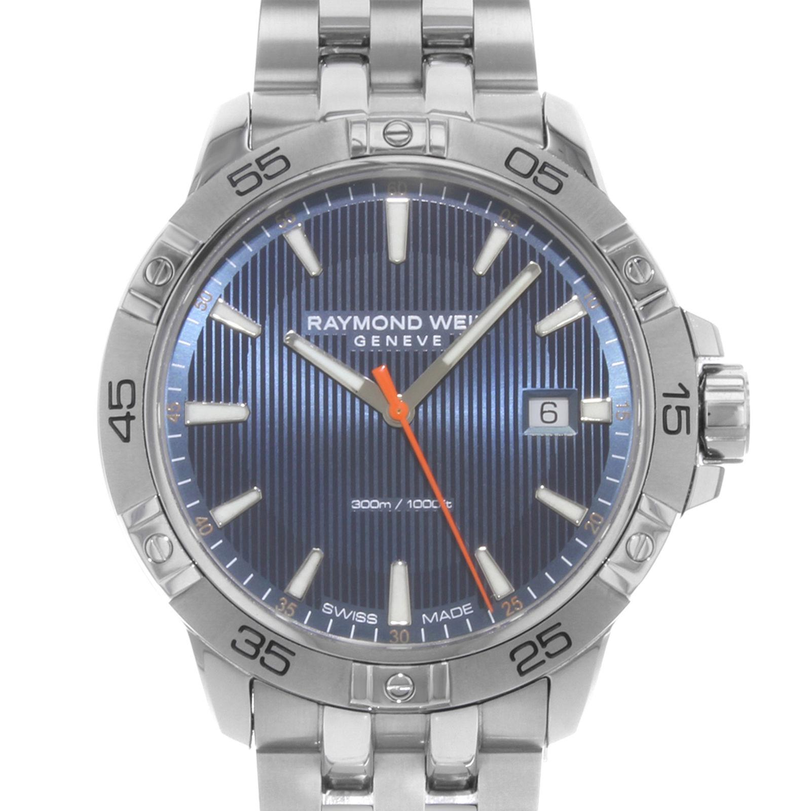 Dial Steel Stainless St2 Men's Watch Blue Weil 50001 Tango Quartz Raymond 8160 MUGqzVSp