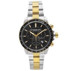 Raymond Weil Tango Steel Two-Tone Black Dial Quartz Mens Watch 8570-SP1-20001
