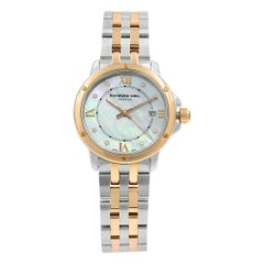 Raymond Weil Tango Two-Tone MOP Diamond Steel Quartz Ladies Watch 5391-SB5-00995