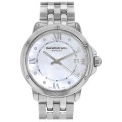 Raymond Weil Tango White MOP Diamond Markers Steel Ladies Watch 5391-ST-00995