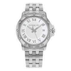 Raymond Weil Tango White Roman Dial Date Steel Quartz Men's Watch 5599-ST-00308