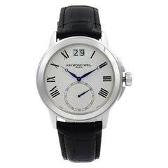 Raymond Weil Tradition Stainless Steel White Quartz Men's Watch 9578-STC-00300