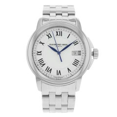 Raymond Weil Tradition White Dial Date Stainless Steel Men's Watch 5578-ST-00300