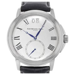 Raymond Weil Tradition White Dial Leather Steel Quartz Mens Watch 9578-STC-00300