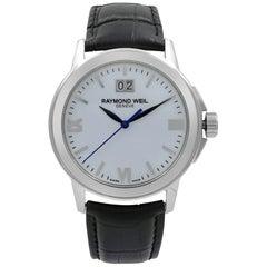 Raymond Weil Tradition White Dial Steel Quartz Men's Watch 5576-ST-00307