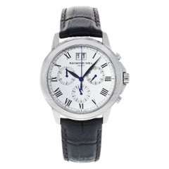 Raymond Weil Tradition White Roman Dial Steel Quartz Men's Watch 4476-STC-00300