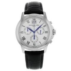 Raymond Weil Tradition White Roman Dial Steel Quartz Men's Watch 4476-STC-00300