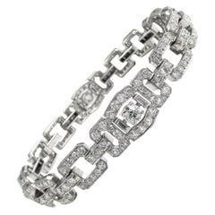 Raymond Yard Art Deco Diamond Platinum Bracelet