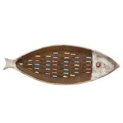 Raymor Bitossi Fish Tray, Ceramic, Signed