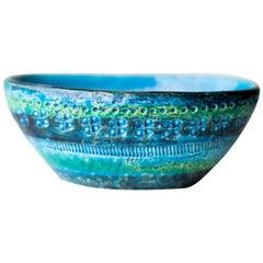 Raymor Bitossi Italian Pottery Bowl Remini Blue