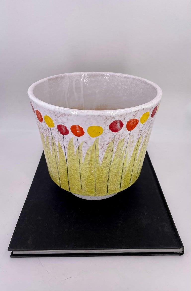 Mid-Century Modern Raymor Bitossi Italian Pottery Rare Planter For Sale