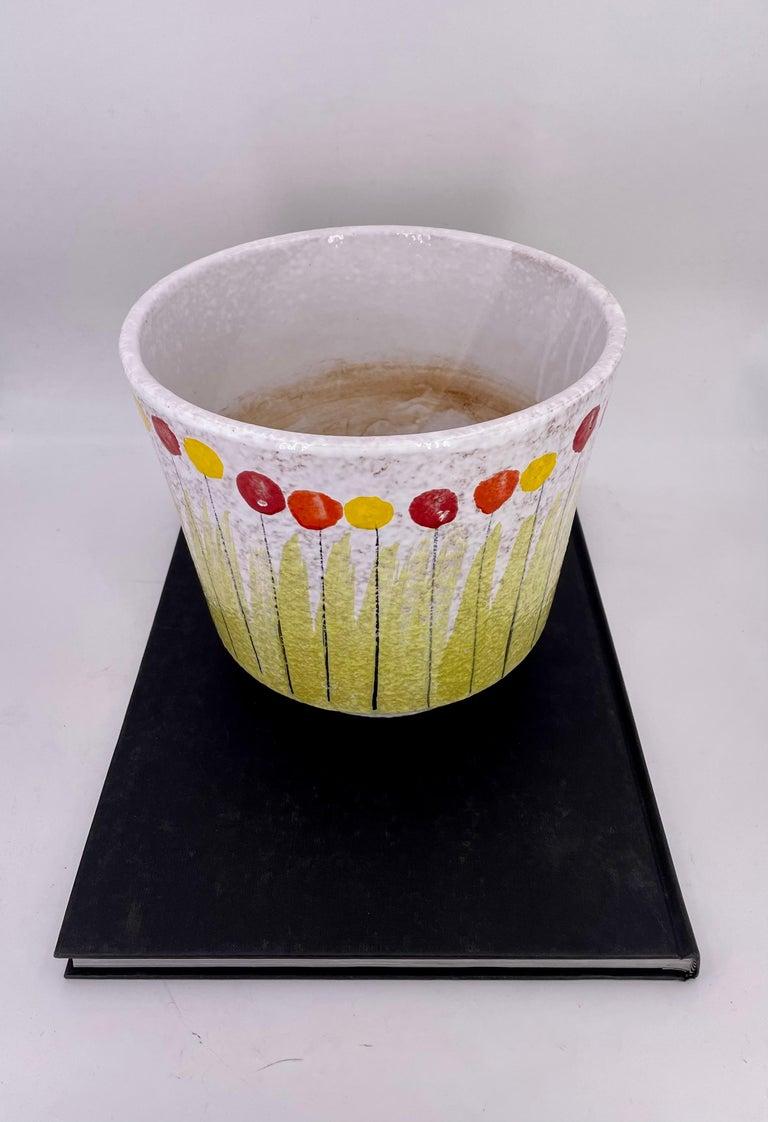 Raymor Bitossi Italian Pottery Rare Planter In Good Condition For Sale In San Diego, CA