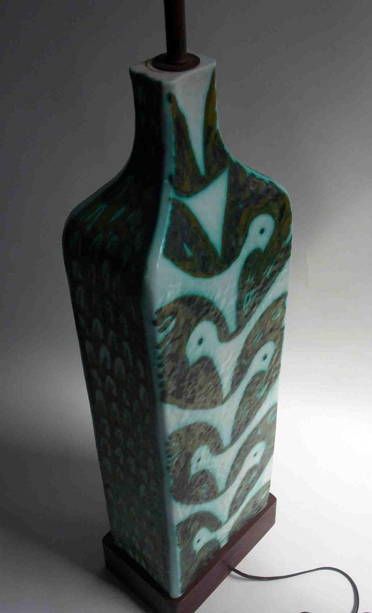Raymor Ceramic Fish Lamp For Sale 1