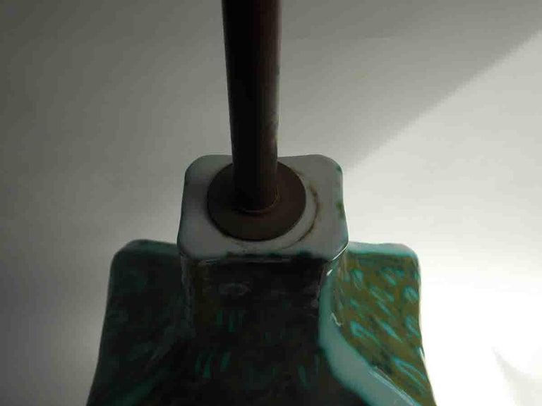 Raymor Ceramic Fish Lamp For Sale 3