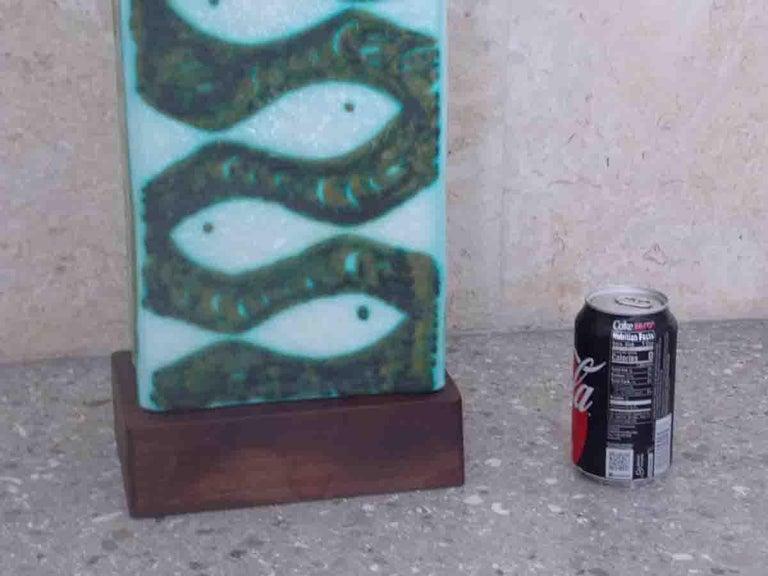 Raymor Ceramic Fish Lamp For Sale 4