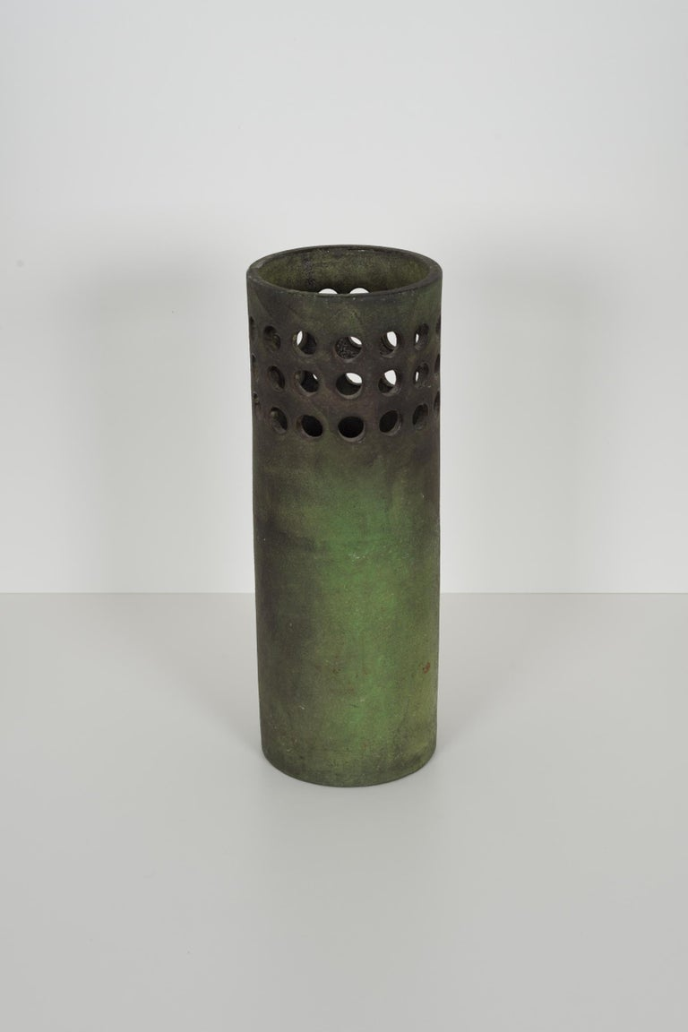 Italian Raymor for Italy Perforated Cylindrical Vase For Sale