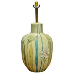 Raymor Hand Painted Ceramic Table Lamp