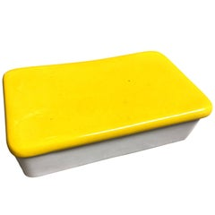 Raymor Yellow and White Ceramic Box