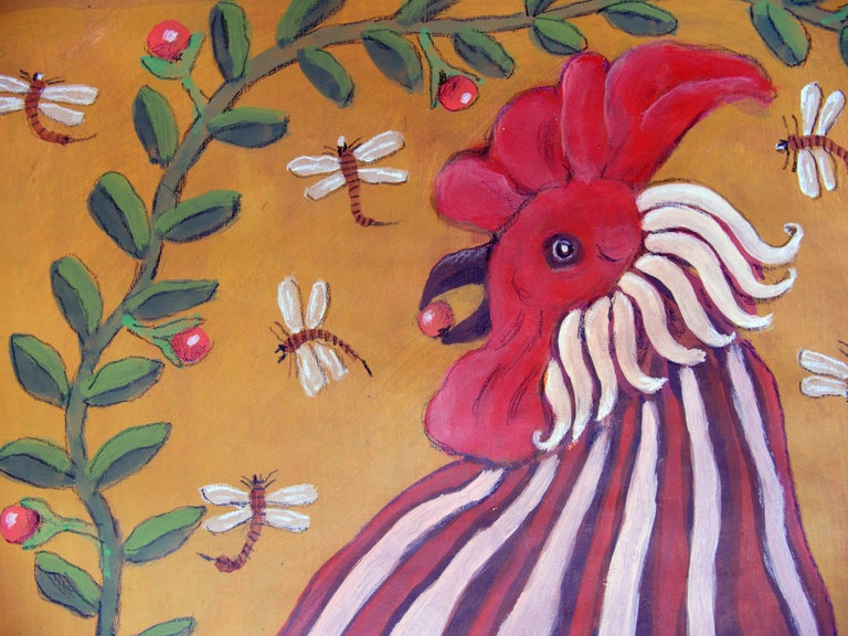 El Gallo - Realist Painting by Raymundo González