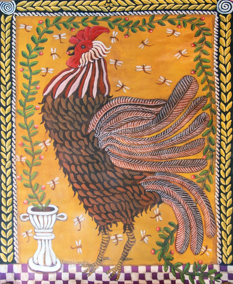 Raymundo González Figurative Painting - El Gallo