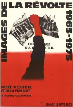 Images de la Revolte 1965-1975 hand signed original French vintage poster