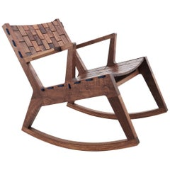 RB Rocking Chair, Modern Woodsport Rocker Handcrafted in Walnut