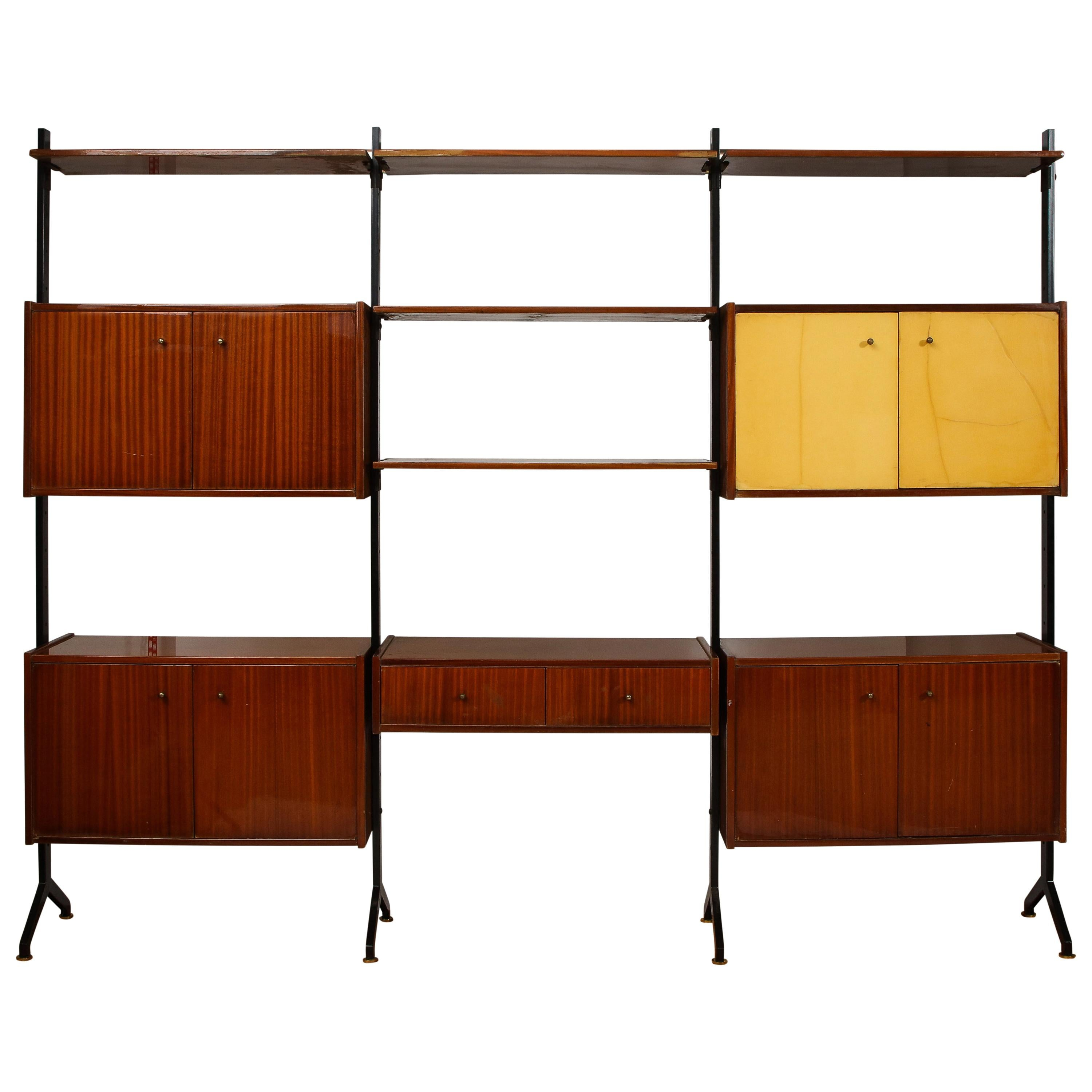 RB Rossana Multi-Storage Shelving Unit in the Style of Ico Parisi, Italy, 1960s