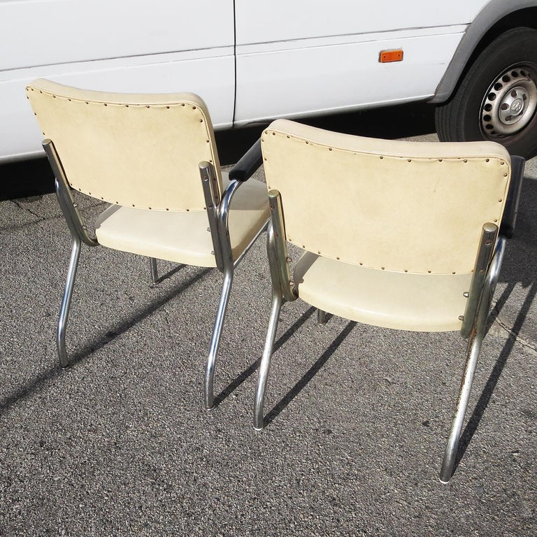 American RCA Victor Tubular Chrome Chairs For Sale