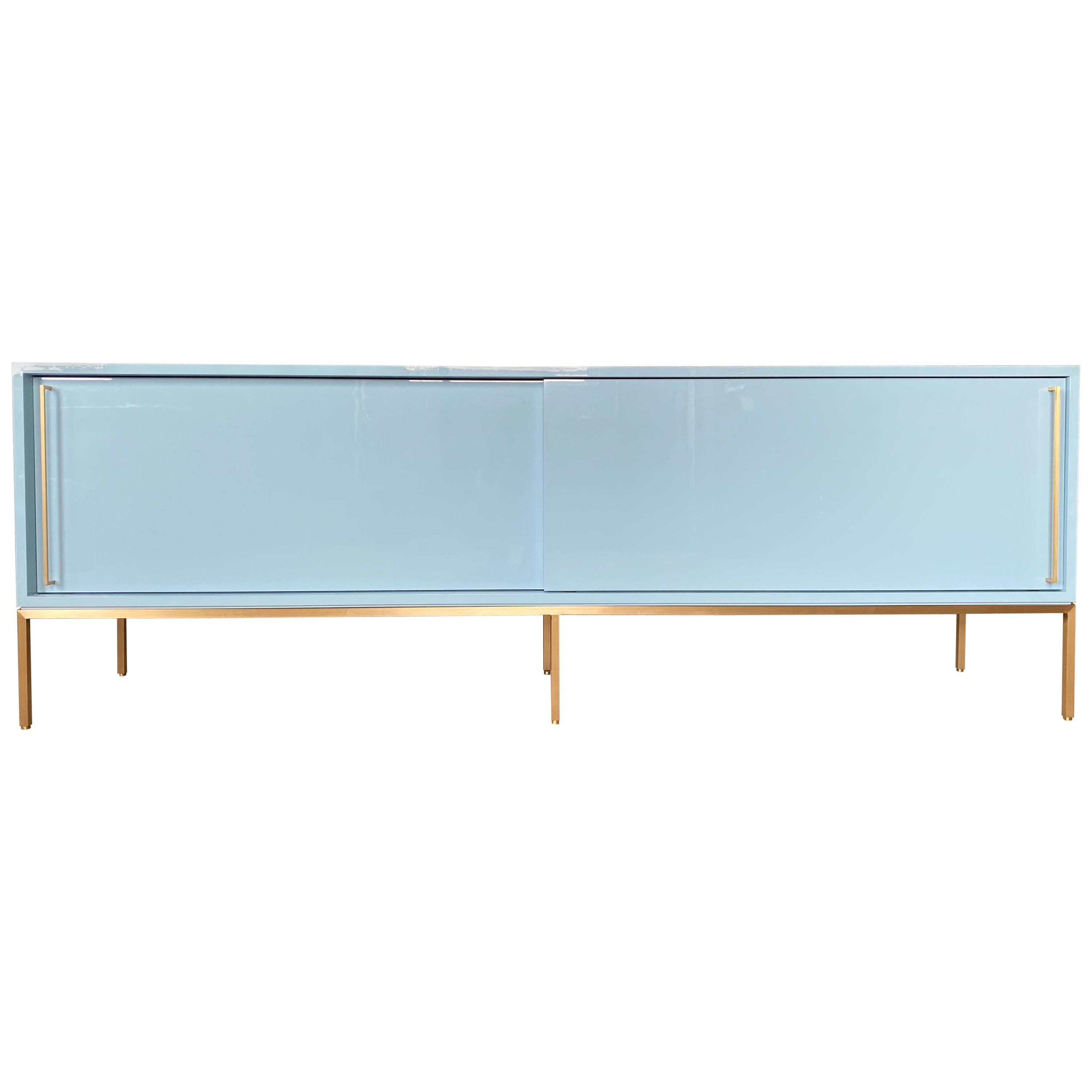 re: 379 Lacquered Credenza on Solid Brass Base