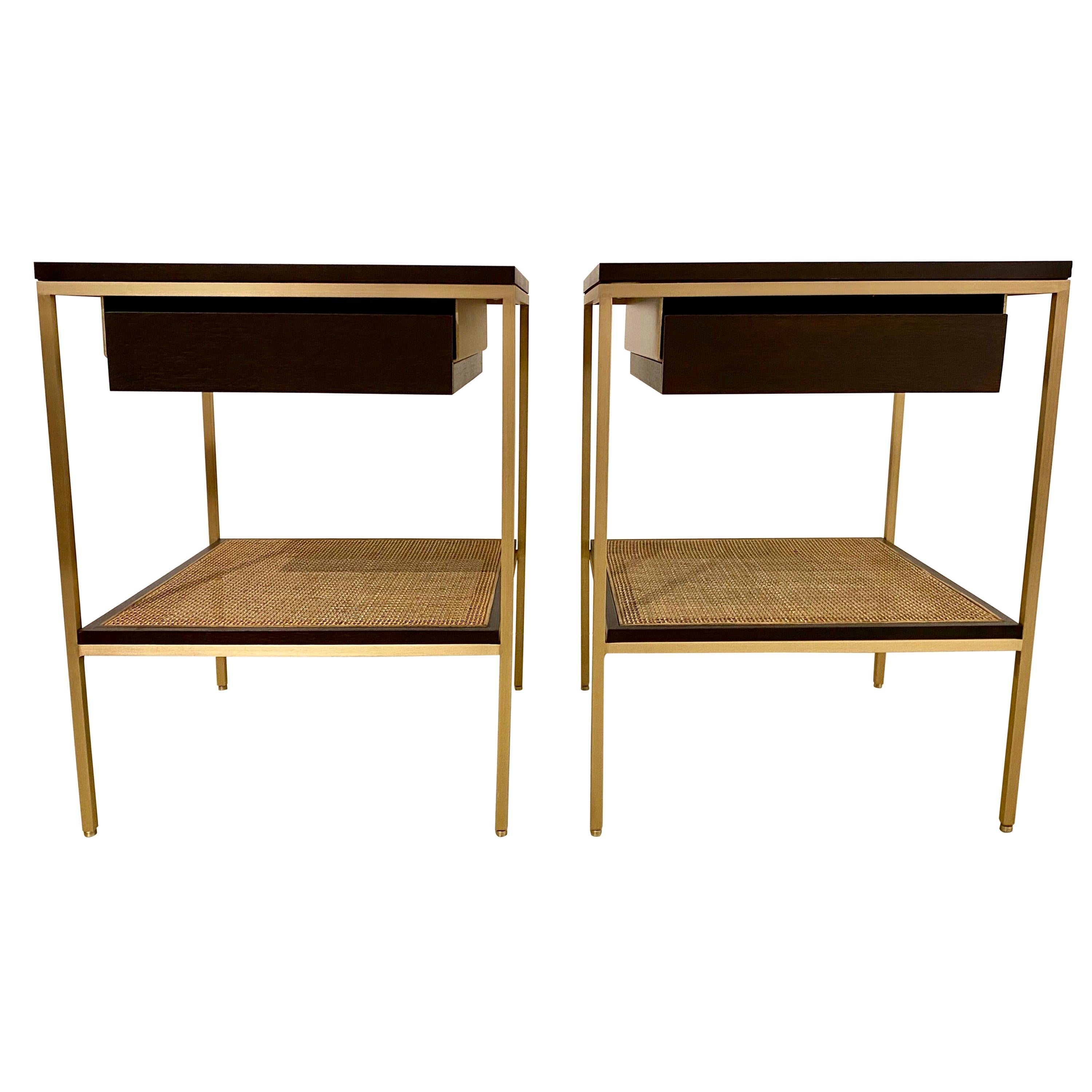 Re 392 Bedside Tables in Dark Walnut