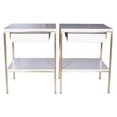 re, 392 Bedside Tables in Soft Chamois Satin