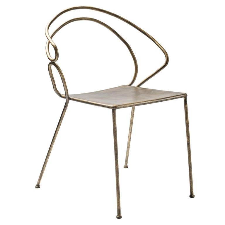 """""""RE-BIS"""" Contemporary Handmade Solid Iron Chair For Sale"""