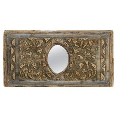 Re-Purposed Iron Bar Mould Mirror, 20th Century