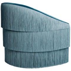 Fringes Armchair in Steel Blue