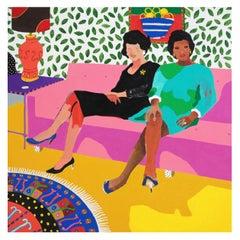'Real Close Friends' Portrait Painting by Alan Fears Pop Art