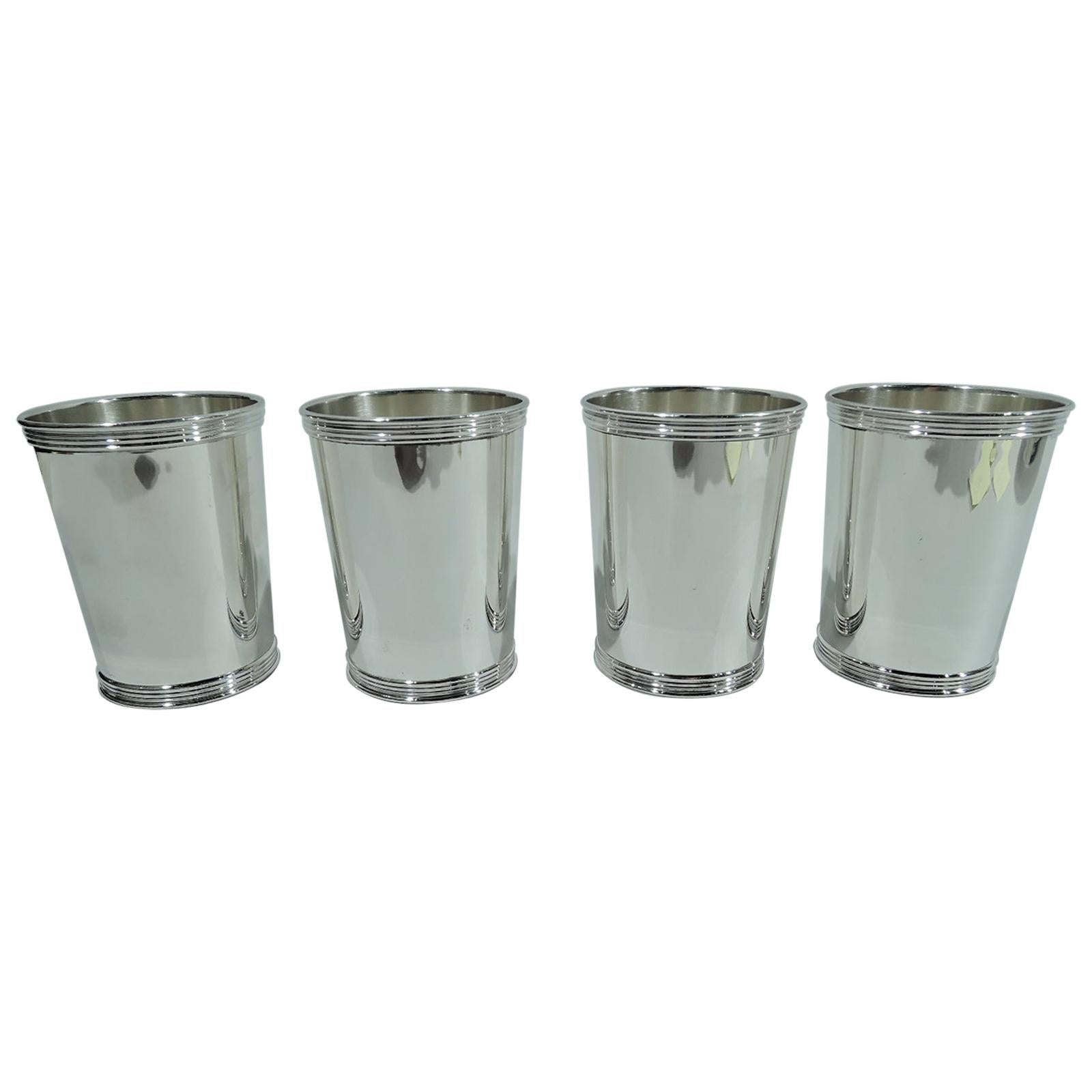 Real Deal Southern Barware, Set of 4 Trees Kentucky Mint Julep Cups