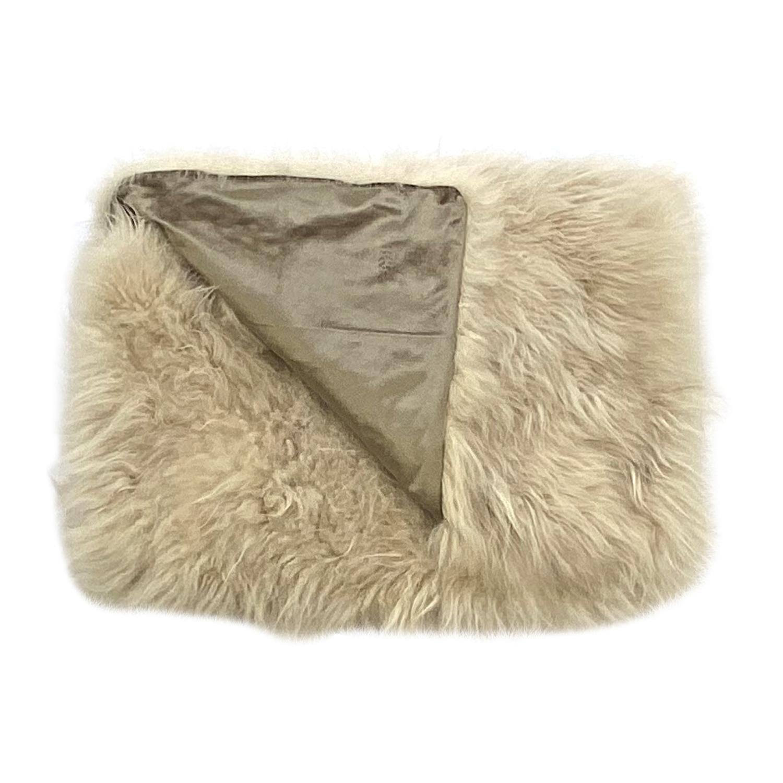 Real Fur Bed Runner, Genuine Cashmere Fur