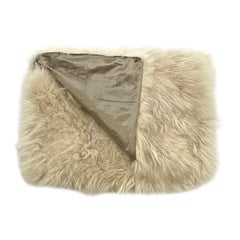 Real Fur Bed Runner, Genuine Cashmere Fur