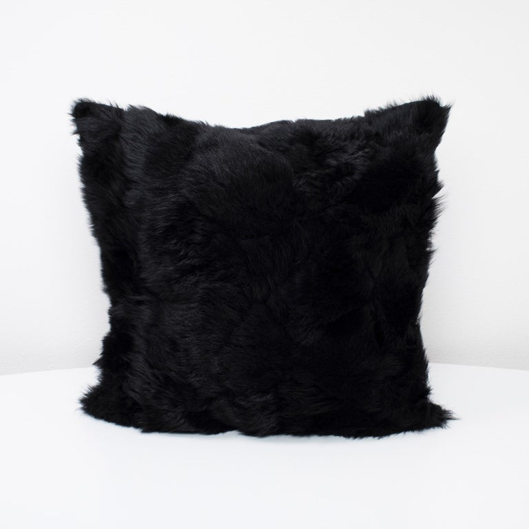Real Fur Pillow, Truffle Brown, Authentic Toscana Sheep Fur In New Condition For Sale In Sebastopol, CA