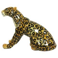 Real Size Jaguar Ceramic Sculpture by Cerámica de Cuernavaca