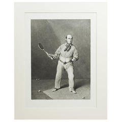 Real Tennis Print, Ed Barre by W. Bromley