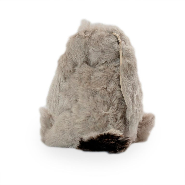 Real Toscana Sheep Black Fur Rabbit Toy For Sale 3